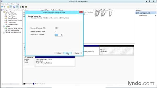 Configuring disk and file systems: Basic Installation and Configuration of Windows Server 2012