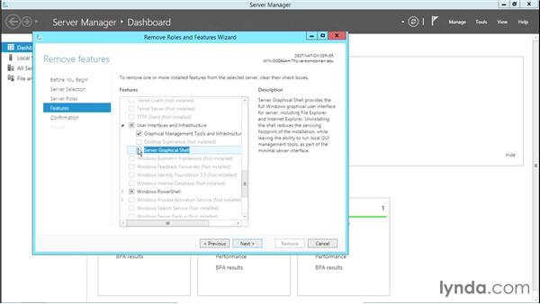 Enabling the Minimal Server Interface: Basic Installation and Configuration of Windows Server 2012