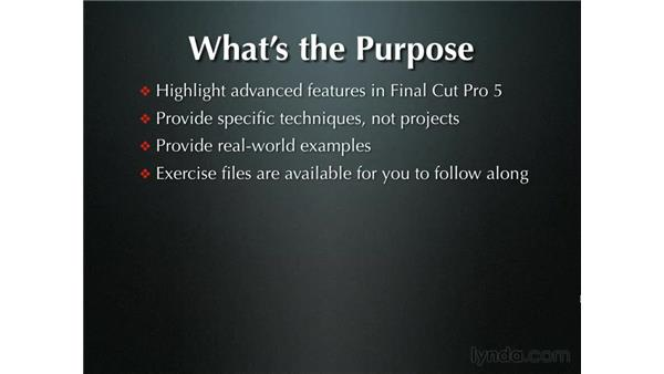 Overview: Final Cut Pro 5 Beyond the Basics