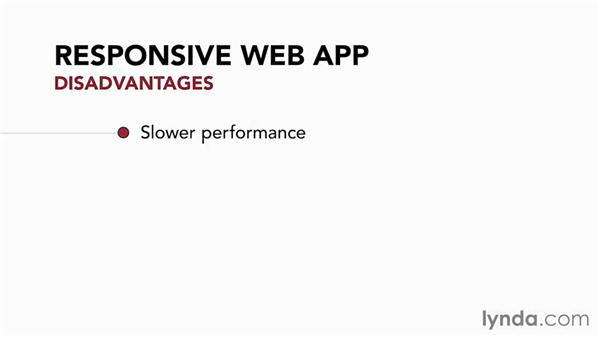 Pros and cons of a responsive web app: Foundations of UX: Multidevice Design