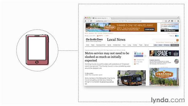 Designing a responsive website: Foundations of UX: Multidevice Design