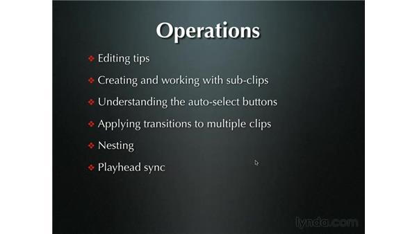Introduction to operations: Final Cut Pro 5 Beyond the Basics