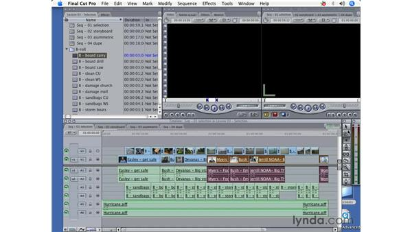 Illustrate track selection tools: Final Cut Pro 5 Beyond the Basics