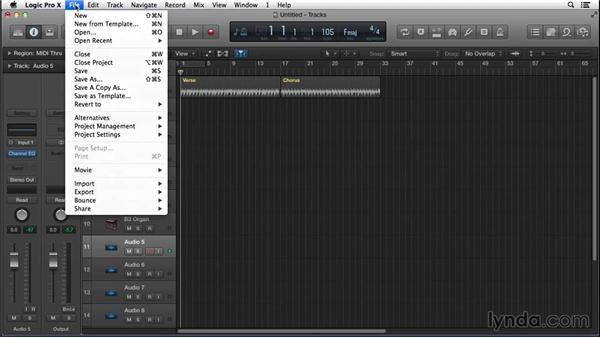 Recording initial creative ideas before they vanish: Songwriting in Logic Pro