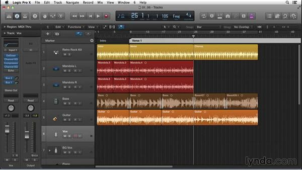 Recording a scratch vocal for one verse and one chorus: Songwriting in Logic Pro