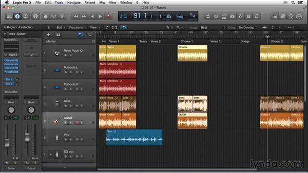 Expanding the song form with a half chorus, verses, and the bridge: Songwriting in Logic Pro