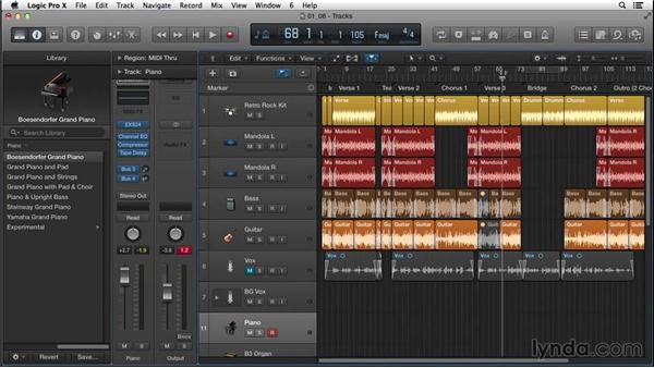 Using instrumentation, texture, and builds to propel the song from one section to another: Songwriting in Logic Pro
