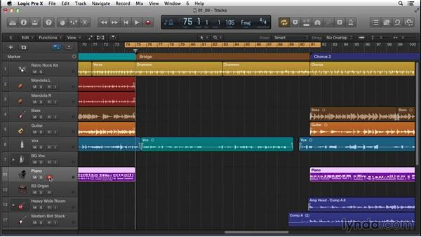 Using improvisation to fill in a section, with the intention of rewriting it later: Songwriting in Logic Pro