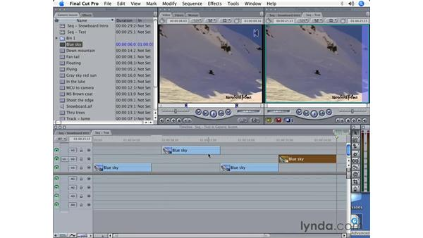 Using the auto-select buttons: Final Cut Pro 5 Beyond the Basics