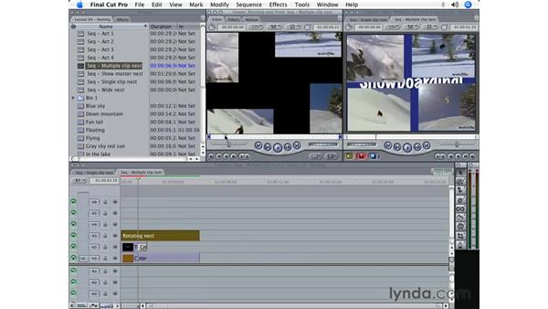 Nesting clips and sequences: Final Cut Pro 5 Beyond the Basics