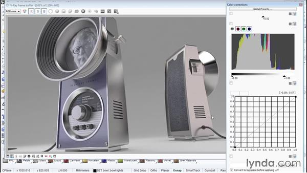 Using the video Frame Buffer: Product Design Rendering with Rhino and V-Ray