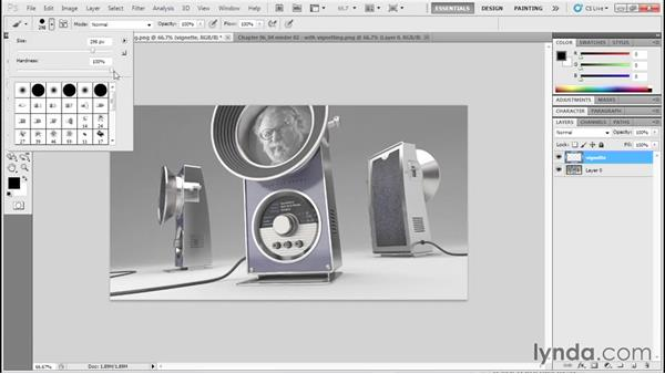 """Generating a vignette """"highlight"""" effect: Product Design Rendering with Rhino and V-Ray"""
