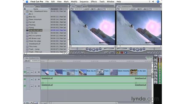 Playhead sync: Final Cut Pro 5 Beyond the Basics