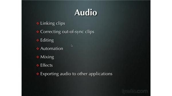 Introduction to audio: Final Cut Pro 5 Beyond the Basics
