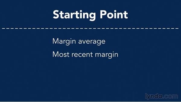 Determining which gross-margin profile to use: Making Business Projections