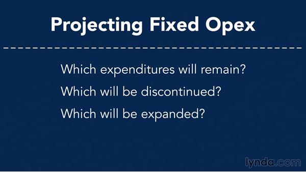 Projecting fixed OPEX: Making Business Projections