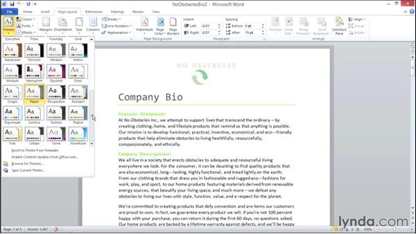 Exploring document themes: Migrating from Office 2007 to Office 2010