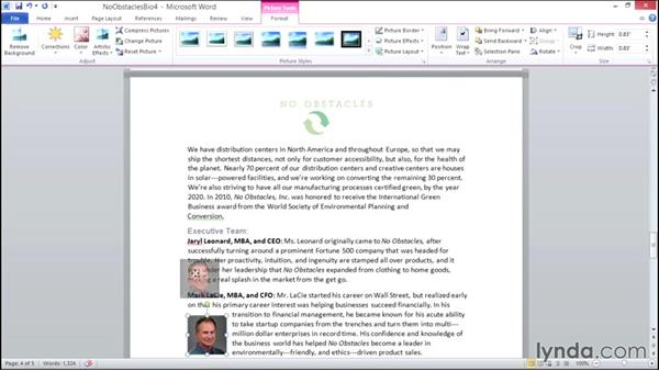 Working with images in a document: Migrating from Office 2007 to Office 2010