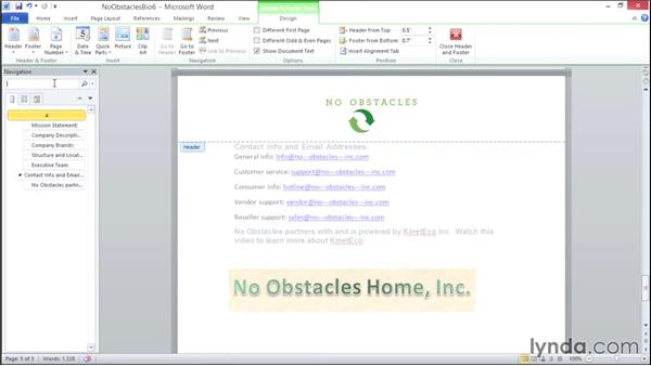 Using the Navigation pane: Migrating from Office 2007 to Office 2010