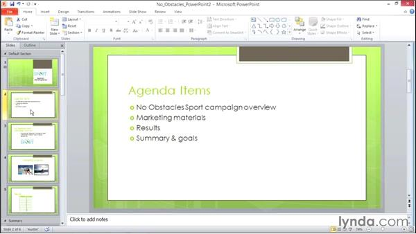 Organizing slides into sections: Migrating from Office 2007 to Office 2010