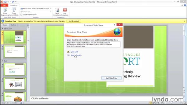 Broadcasting a presentation on the web: Migrating from Office 2007 to Office 2010