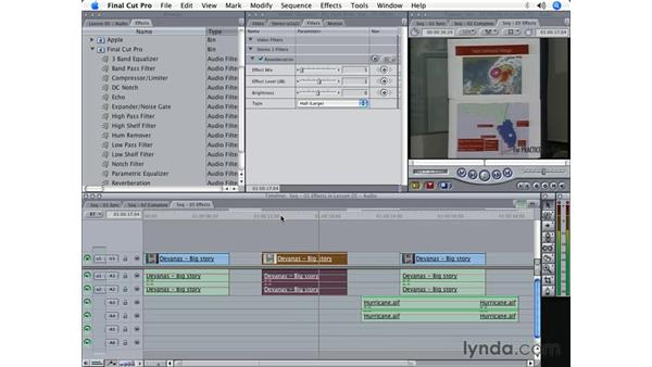 Audio effects: Final Cut Pro 5 Beyond the Basics