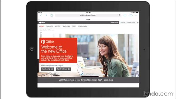 Installing Office for iPad: Office for iPad and iPhone Essential Training