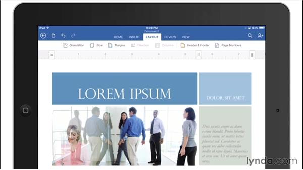 Exploring the Word interface: Office for iPad and iPhone Essential Training