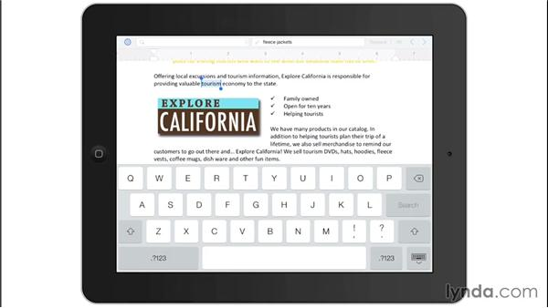 Finding and replacing text: Office for iPad and iPhone Essential Training
