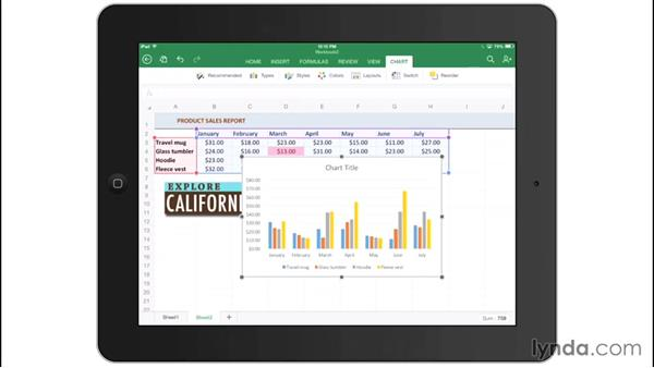 Inserting pictures and charts: Office for iPad and iPhone Essential Training