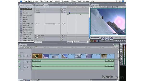 Adjusting opacity: Final Cut Pro 5 Beyond the Basics
