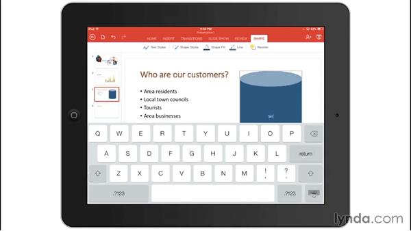 Adding pictures and shapes: Office for iPad and iPhone Essential Training