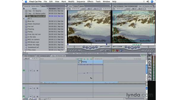 Timeline keyframe editing: Final Cut Pro 5 Beyond the Basics