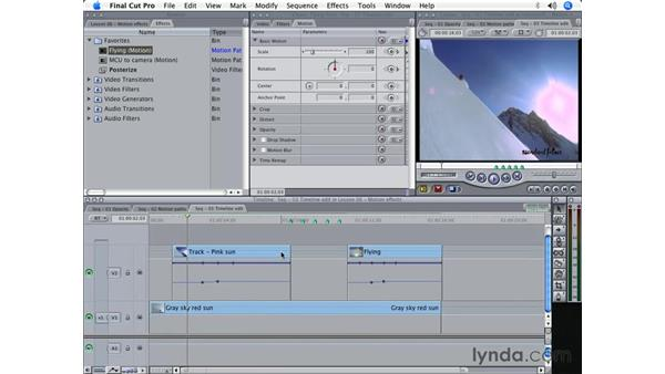 Reusing effects: Final Cut Pro 5 Beyond the Basics