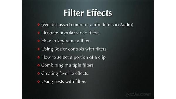 Introduction to filters: Final Cut Pro 5 Beyond the Basics