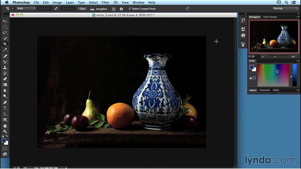 Using a photo to capture and edit a still life: Digital Painting Fundamentals