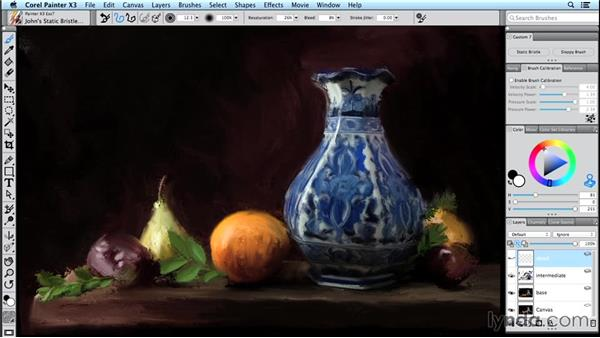 Work nondestructively using layers: Digital Painting Fundamentals