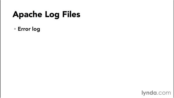 What are the common log files?: Practical Apache Web Server Administration