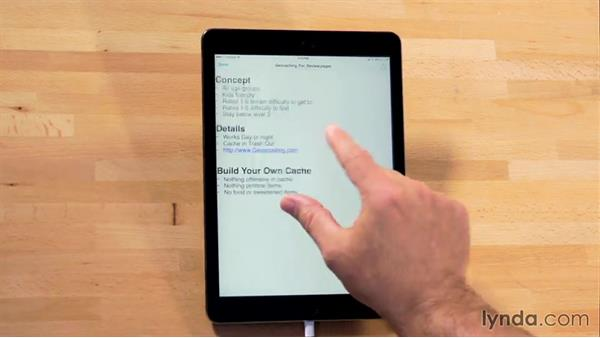 Receiving documents via email: iWork for iPad Essential Training