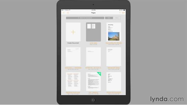 Importing a document: iWork for iPad Essential Training