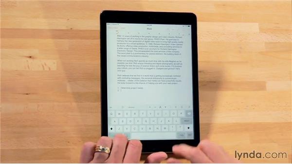 Formatting lists: iWork for iPad Essential Training