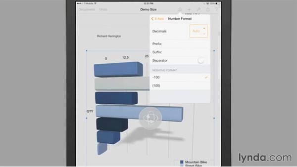 Customizing a chart's appearance: iWork for iPad Essential Training