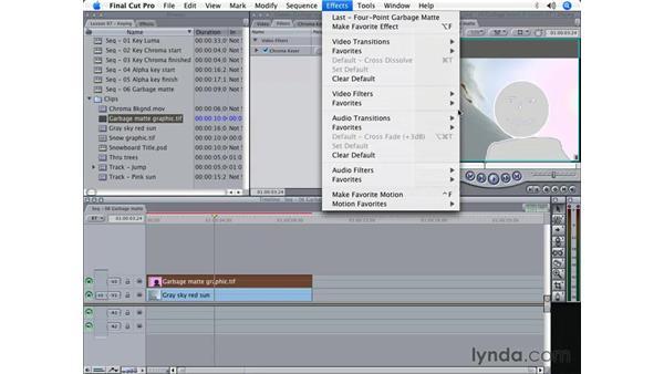 Garbage mattes: Final Cut Pro 5 Beyond the Basics