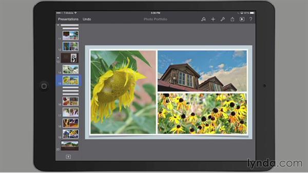 Skipping a slide: iWork for iPad Essential Training