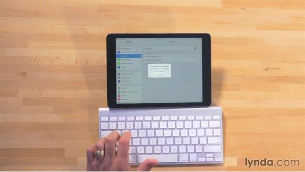 Using an external keyboard: iWork for iPad Essential Training