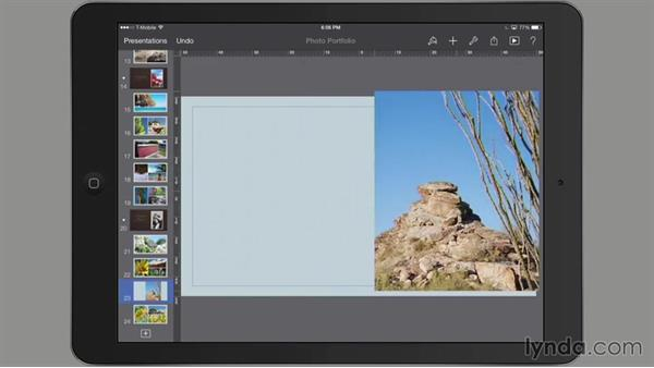 Cropping a photo: iWork for iPad Essential Training