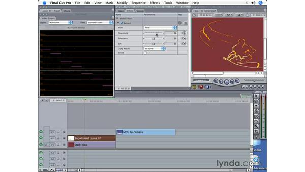 Hold-outs and the extract filter: Final Cut Pro 5 Beyond the Basics