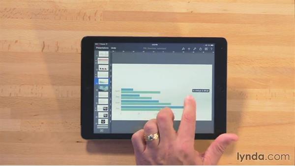 Adding a chart: iWork for iPad Essential Training