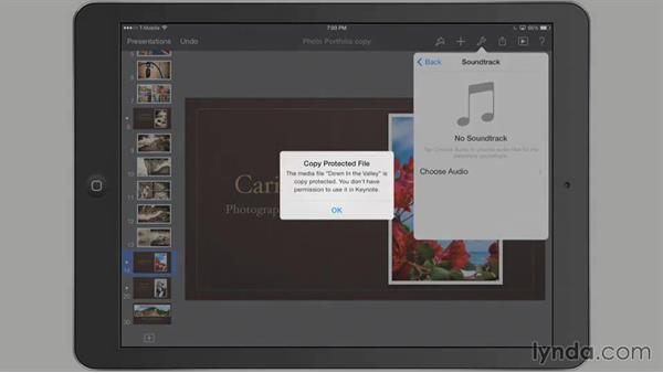 Adding a soundtrack: iWork for iPad Essential Training