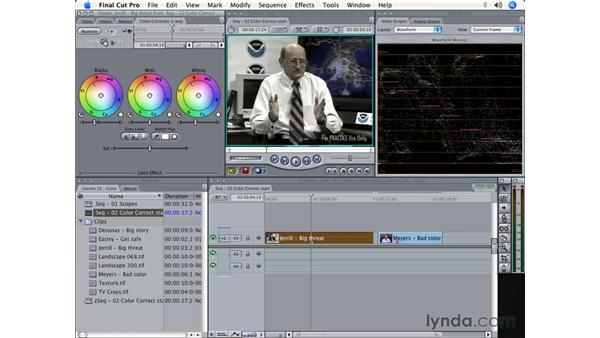 Seven steps to color correction: Final Cut Pro 5 Beyond the Basics